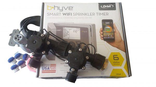 Orbit B-hyve WiFi Controller 6 Station with 2 x Solenoid Combo -Free Rain Sensor