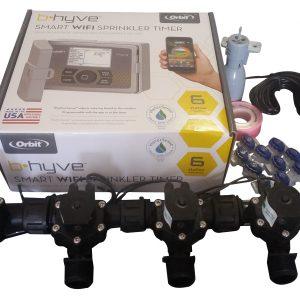 Orbit B-hyve WiFi Controller 6 Station with 4 x Solenoid Combo -Free Rain Sensor