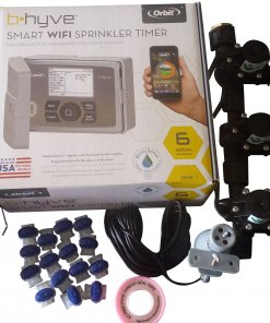 Orbit B-hyve WiFi Controller 6 Station with 6 x Solenoid Combo -Free Rain Sensor
