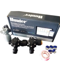 "Hunter Hydrawise 6 Station WiFi Irrigation Combo-Qty 2 x 3/4""Solenoids&Rain Sensor"