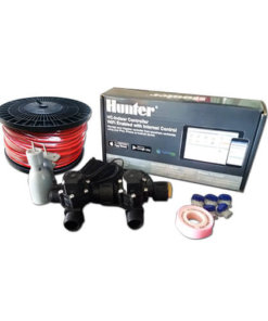 "Hunter Hydrawise 6 Station WiFi Irrigation Combo-Qty 2 x 3/4""Solenoids, Rain Sensor & Wire"