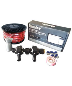 Hunter Hydrawise 6 Station WiFi Irrigation Combo-Qty 2 x 19mm Barb Solenoids, Rain Sensor & Wire