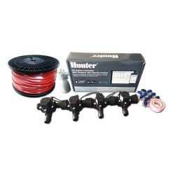 Hunter Hydrawise 6 Station WiFi Irrigation Combo-Qty 4 x 19mm Barb Solenoids, Rain Sensor & Wire