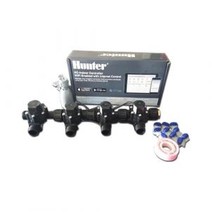 "Hunter Hydrawise 6 Station WiFi Irrigation Combo-Qty 4 x 3/4""Solenoids&Rain Sensor"