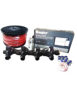 "Hunter Hydrawise 6 Station WiFi Irrigation Combo-Qty 4 x 3/4""Solenoids, Rain Sensor & Wire"