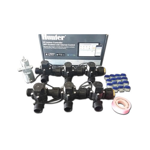 "Hunter Hydrawise 6 Station WiFi Irrigation Combo-Qty 6 x 3/4""Solenoids&Rain Sensor"