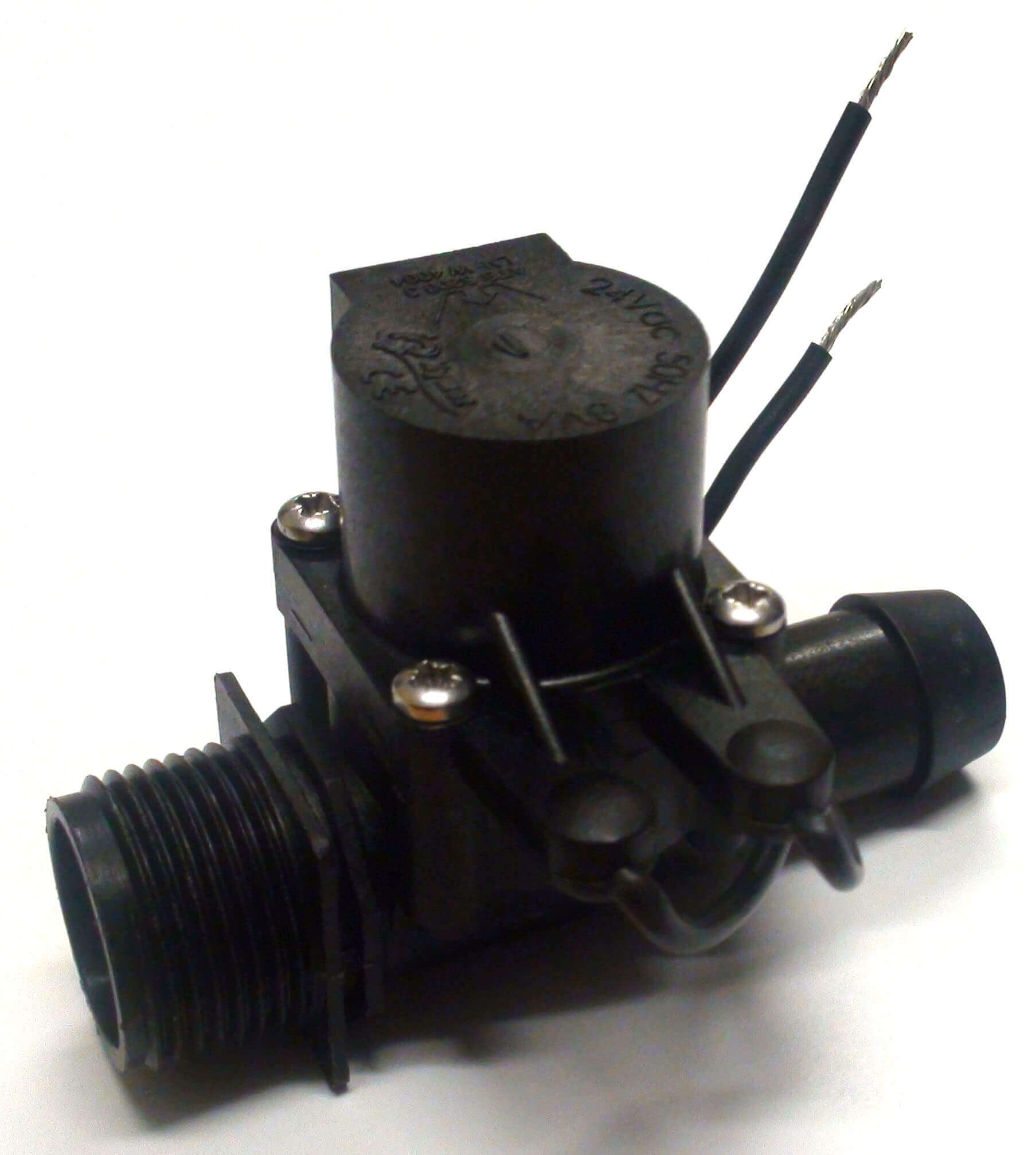 """Micro Irrigation Solenoid Valve 24VAC - 3/4"""" Male Inlet - 19mm Straight Barb Outlet - 20LPM"""