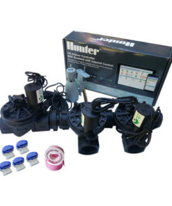 "Hunter Hydrawise 6 Station WiFi Irrigation Combo-Qty 3 x 1""Solenoids&Rain Sensor"