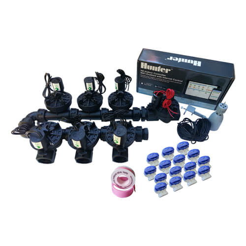 "Hunter Hydrawise 12 Station WiFi Irrigation - Qty7x 1""Solenoid,Rain Sensor"