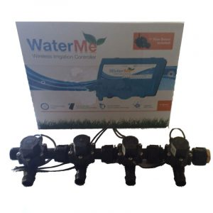 """WaterMe Irrigation Controller + Qty 4 x 3/4"""" Irrigation Manifold Assembly x 19mm Barb Outlet( 2-way) - 50LPM"""