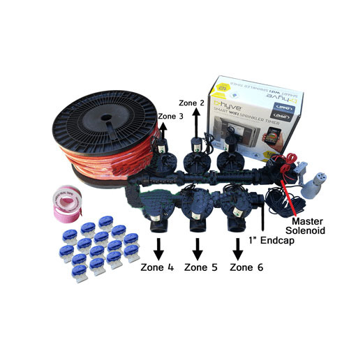 "Orbit B-Hyve 12 Station WiFi Combo -Qty 7 x 1"" 25mm Solenoids, Rain Sensor &Wire"