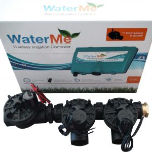 "WaterMe-WiFi Irrigation Controller+Qty2 x1"" Solenoids+Qty 1 x1"" Master Solenoid"