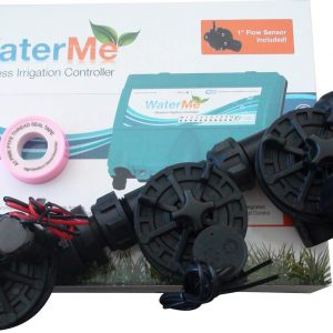 """WaterMe-WiFi Irrigation Controller+Qty2 x1"""" Solenoids+Qty 1 x1"""" Master Solenoid"""