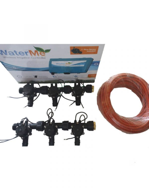 WaterMe Combo - WiFi Controller & 6 Zone 19mm Barb Outlet Irrigation Manifold Valves with 7 core Wire