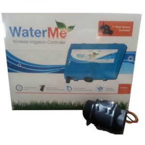 "WaterMe-Wireless Irrigation Controller + Qty 1 x 1.5""(DN40) Flow Sensors"