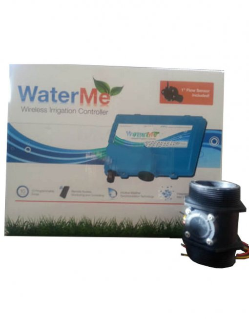 "WaterMe-Wireless Irrigation Controller + Qty 1 x 2"" Flow Sensor"