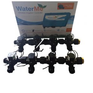 "WaterMe Irrigation Controller + Qty 8 x 3/4"" Irrigation Manifold Assembly x 19mm Barb Outlet( 2-way) - 50LPM"