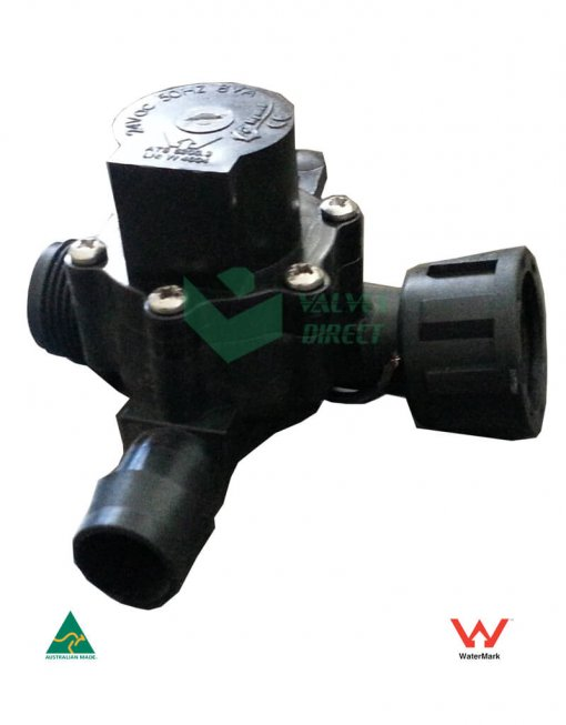 """Manifold Irrigation Solenoid Valve 24VAC - 3/4"""" Male Inlet - 19mm Barb Outlet (2-way) - 50 LPM (High Flow)"""