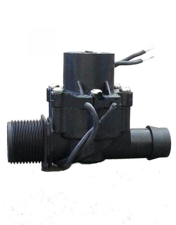 "Irrigation Solenoid Valve 24VAC - 3/4"" Male Inlet - 19mm Barb Outlet - 50 LPM (High Flow)"