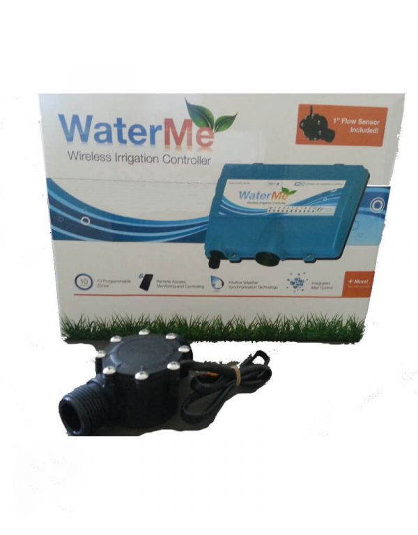 "WaterMe - Wireless Irrigation Controller(Wireless Version) + 1"" Extra Flow Sensor"