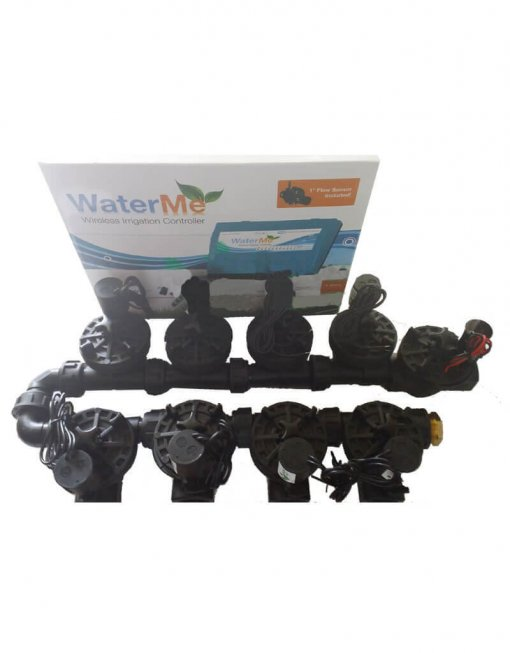 "WaterMe Irrigation Controller + 1"" Irrigation Manifold Assembly (8 x 1"" Manifold +1 x 1"" Inline Solenoid) - 100LPM"