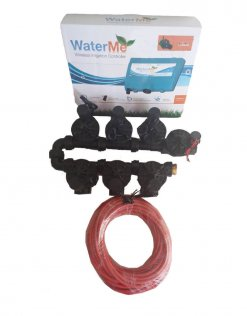 """WaterMe-WiFi Irrigation Controller + 6 Zone Solenoids Combo + Qty1 x1""""Master Solenoid + 9 core Irrigation wire - 20 meter"""