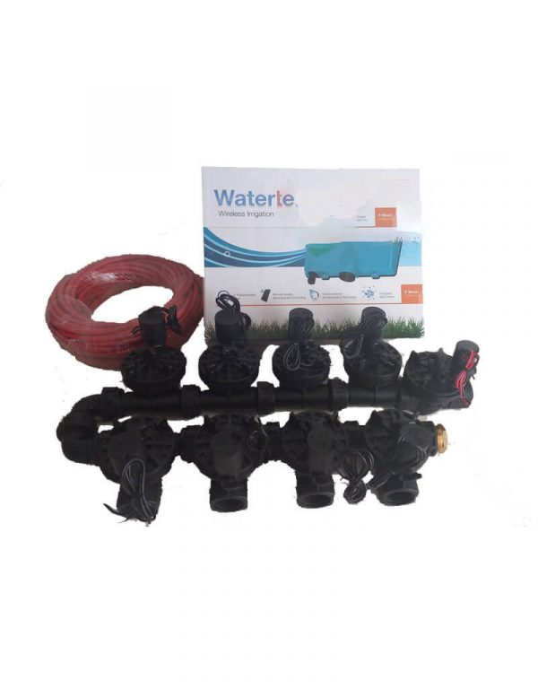 """WaterMe-WiFi Irrigation Controller + 8 Zone Solenoids Combo + Qty1 x1""""Master Solenoid + 13 core Irrigation wire - 20 meter"""