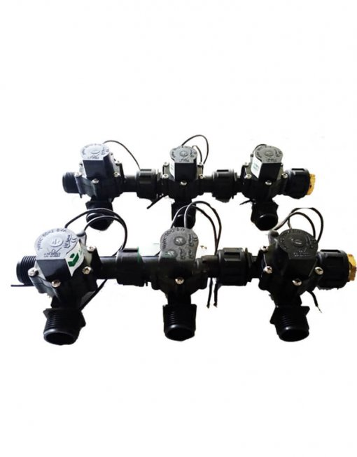 "Irrigation Manifold Assembly (6 x Manifold - 2-way 3/4"" 24VAC 50LPM)"