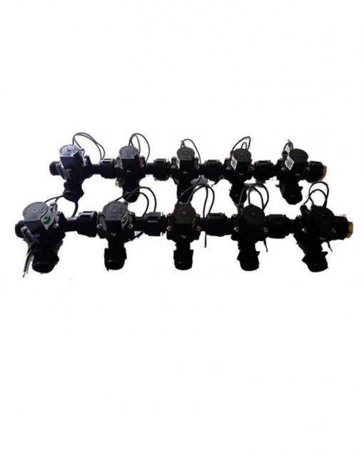 """Irrigation Manifold Assembly (10 x Manifold - 2-way 3/4"""" 24VAC 50LPM)"""