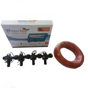 WaterMe Combo - WiFi Controller & 4 Zone 19mm Barb Irrigation Manifold Valves with 5 core Wire