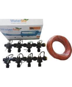 "WaterMe Combo - WiFi Controller & 8 Zone 3/4"" Irrigation Manifold Valves with 9 core Wire"