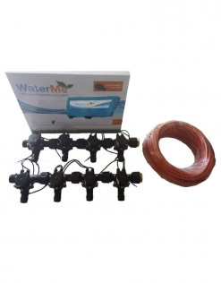 WaterMe Combo - WiFi Controller & 8 Zone 19mm Barb Irrigation Manifold Valves with 9 core Wire
