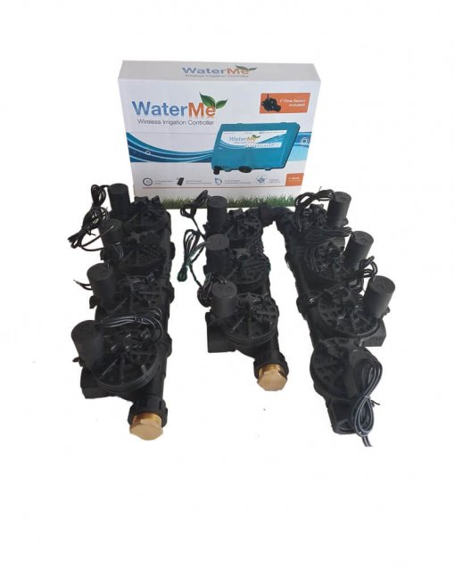 """WaterMe Irrigation Controller + Qty 10 x 1"""" Irrigation Manifold Assembly (10 x 1"""" Manifold +1 x 1"""" Inline Solenoid) - 100LPM"""