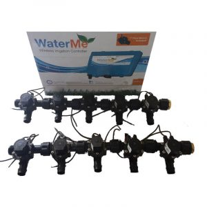 """WaterMe Irrigation Controller + Qty 10 x 3/4"""" Irrigation Manifold Assembly x 19mm Barb Outlet( 2-way) - 50LPM"""