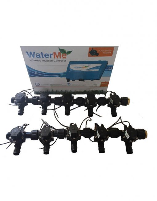 "WaterMe Irrigation Controller + Qty 10 x 3/4"" Irrigation Manifold Assembly x 19mm Barb Outlet( 2-way) - 50LPM"
