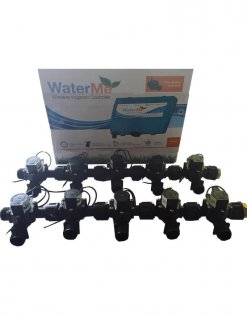 "WaterMe Irrigation Controller + Qty 10 x 3/4"" Irrigation Manifold Assembly x 3/4"" BSP Male (2-way)- 50LPM"