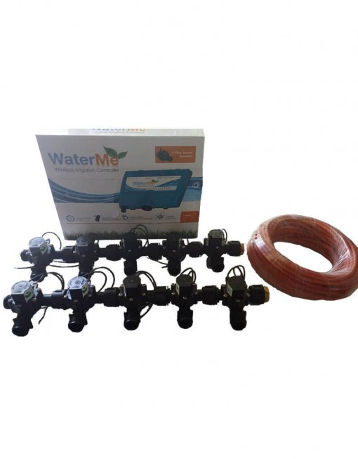 """WaterMe Combo - WiFi Controller & 10 Zone 3/4"""" Irrigation Manifold Valves with 13 core Wire"""