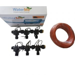 "WaterMe Combo - WiFi Controller & 4 Zone 3/4"" Irrigation Manifold Valves with 7 core Wire"