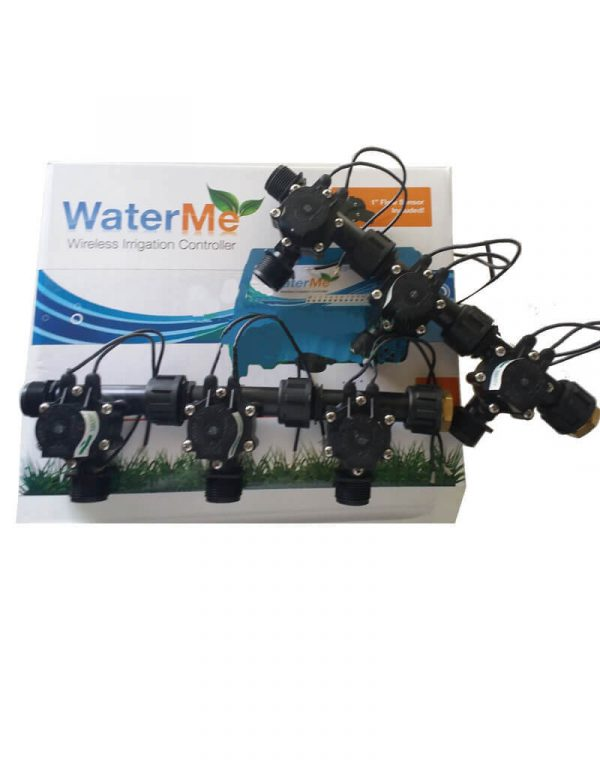 """WaterMe Irrigation Controller + Qty 6 x 3/4"""" Irrigation Manifold Assembly x 3/4"""" BSP Male (2-way)- 50LPM"""