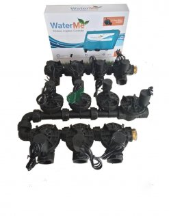 "WaterMe Irrigation Controller + Qty 10 x 1"" Irrigation Manifold Assembly (10 x 1"" Manifold +1 x 1"" Inline Solenoid) - 100LPM"