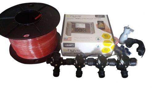Orbit B-hyve WiFi Controller 6 Station 4 x Solenoid Combo -Free Rain Sensor,Wire