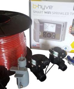 Orbit B-hyve WiFi Controller 6 Station 2 x Solenoid Combo -Free Rain Sensor,Wire