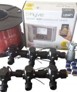 Orbit B-hyve WiFi Controller 6 Station 6 x Solenoid Combo -Free Rain Sensor,Wire