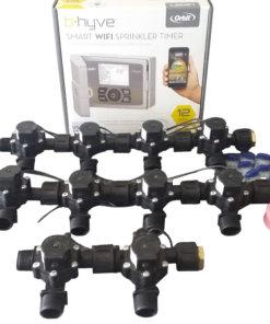 "Orbit B-hyve WiFi Controller 12 Station-10 x 3/4"" Solenoid Combo-Free Rain Sensor"