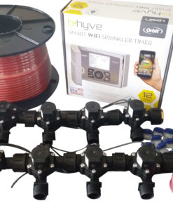 Orbit B-hyve WiFi Controller 12 Station-8 x Solenoid Combo-Free Rain Sensor,Wire