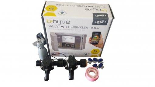 Orbit B-hyve WiFi Controller 6 Station-2 x 19mm Barb Solenoids Combo-Rain Sensor
