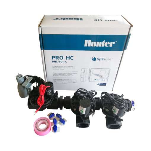 Hunter 6 Station Pro-HC WiFi Irrigation*Outdoor*3x 25mm Solenoids,FreeRainSensor