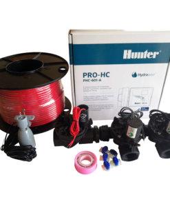 Hunter 6 Station Pro-HC WiFi Irrigation*Outdoor* 3 x 25mm Solenoids,Rain Sensor,Wire