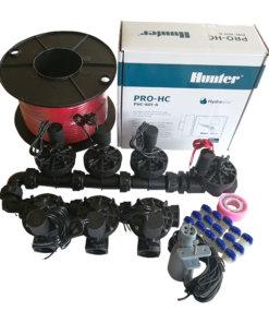 Hunter 6 Station Pro-HC WiFi Irrigation*Outdoor* 7 x 25mm Solenoids,Rain Sensor,Wire