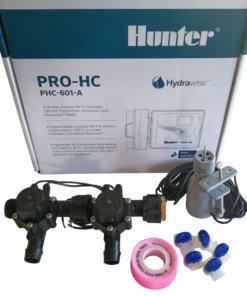 Hunter 6 Station Pro-HC WiFi Irrigation*Outdoor*2x 19mmBarb Solenoids,RainSensor